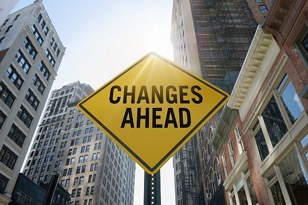 'Changes ahead'traffic sign - Stock image 585767418