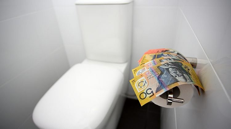 Aussies flushing thousands of dollars down the toilet