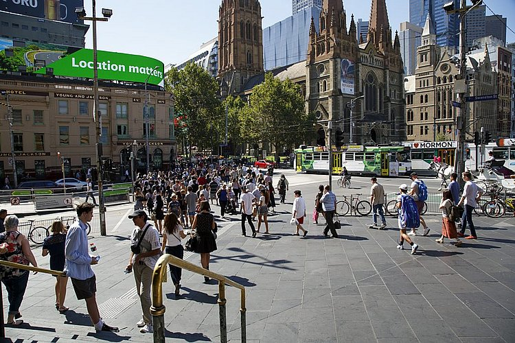 Melbourne dominating building and population growth
